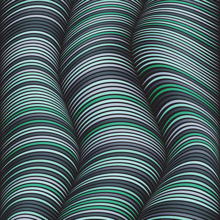 cords: Abstract background with different distorted lines. The illusion of volume. Cool shades. Wires and cords. Illustration
