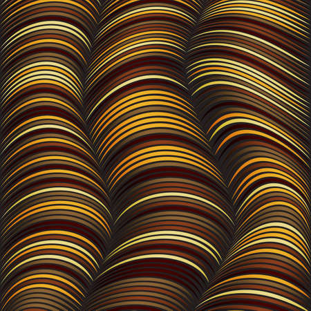 Abstract background with yellow lines distorted. The illusion of volume. Bright shades. Wires and cords.