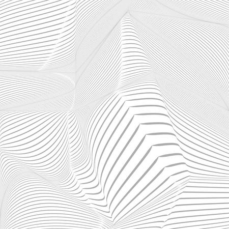 distorted: Abstract background with randomly distorted forms. Monochrome image.