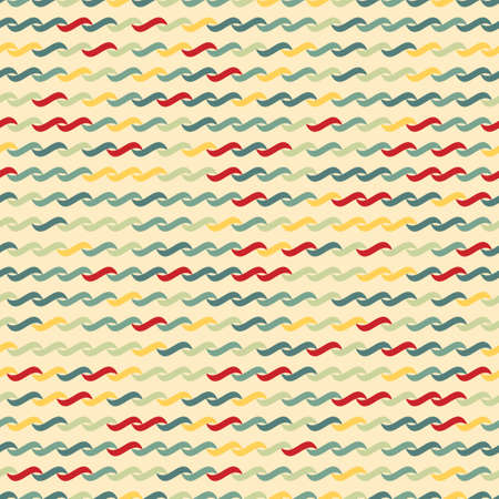 undulating: Seamless pattern of undulating shapes. Yellow background.