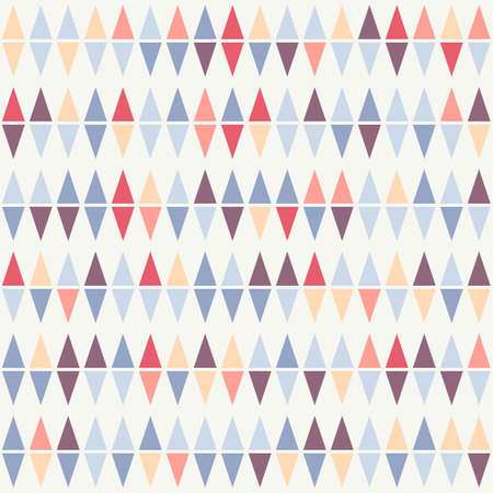 fresh colors: Abstract seamless geometrical pattern of colorful triangles on a beige background. Fresh colors. Illustration