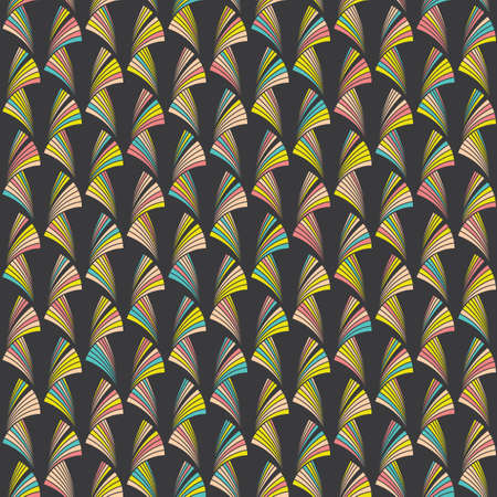 fresh colors: Abstract seamless background with original pattern of bright geometric shapes. Dark background. Bright and fresh colors.