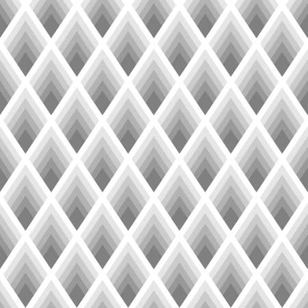 Abstract seamless pattern with diamonds in shades of gray. The original geometric background. Иллюстрация