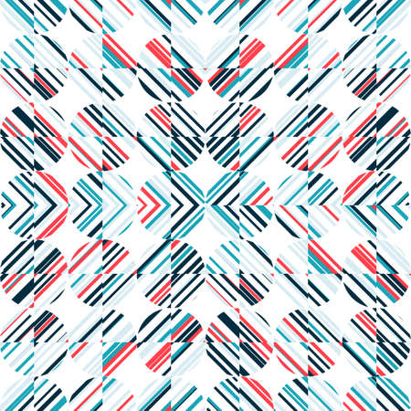 grren: Abstract seamless pattern with bright shapes on a white background. Simple shapes. Illustration