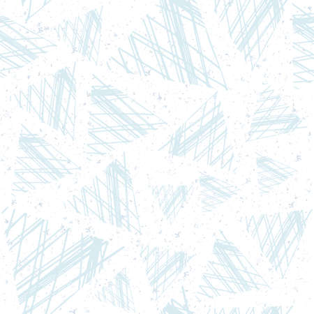 diagonal: Abstract seamless pattern of triangles in the style of grunge. Delicate shades of blue. Illustration