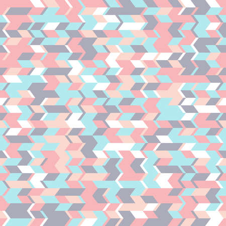 Abstract seamless pattern with geometrical forms. Horizontal movement of triangular shapes. Stock Photo