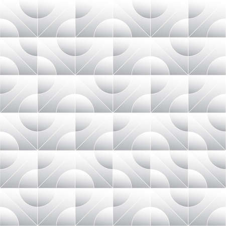 tillable: Abstract monochrome pattern of squares and circles. Round geometric elements.