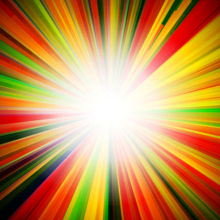 Abstract bright background with geometric shapes. Rays emanating from the Centre. Point of concentration. Illustration