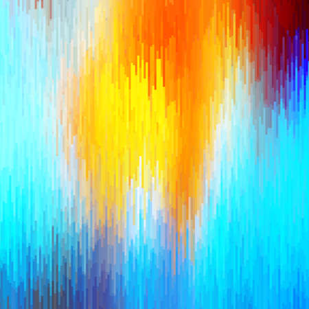 Abstract bright background of many elements. Glitch effect. Stock Photo