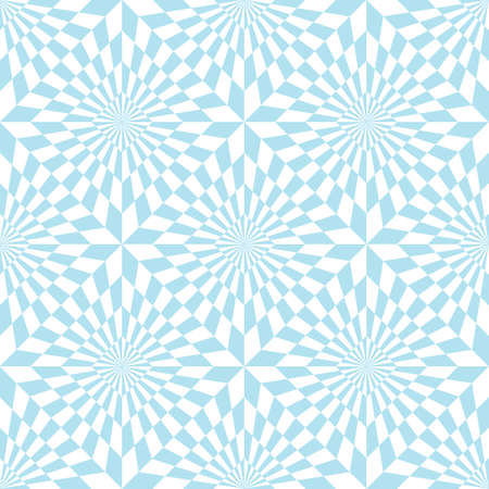 Abstract seamless pattern of geometrical elements. Optical illusion.