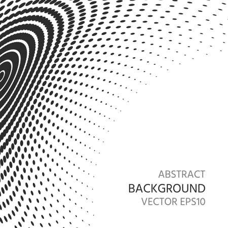 Abstract background of semitones. Distortion of space. Ilustração