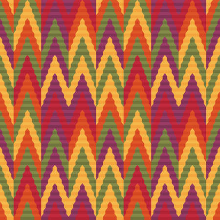 contrasting: Seamless bright pattern of zigzags retro style. Contrasting colors. Ethnic style. Illustration