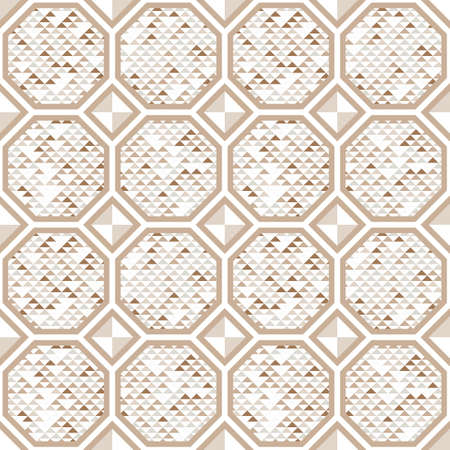 repetitive: Abstract seamless pattern of triangles and hexagons. Lattice shape. Floor texture.