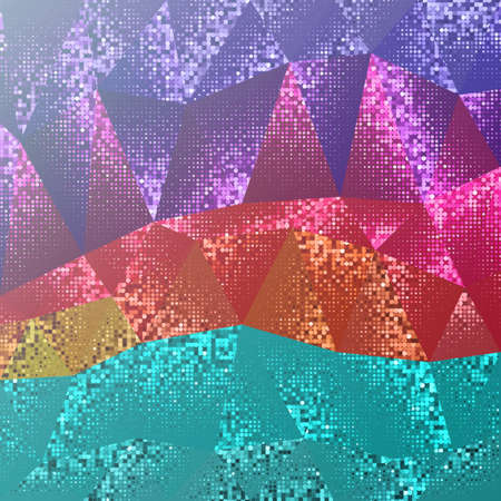 Abstract background of triangles and dots. Tints of geometric shapes. Illustration