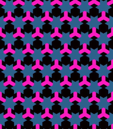 Seamless pattern in the technological style. Clear geometric shapes. Orderly background. Lattice shape.