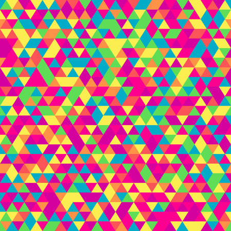 삼각형의 원활한 패턴입니다. 많은 그늘에서 아이소 메트릭 기하학적 인 질감. 일러스트