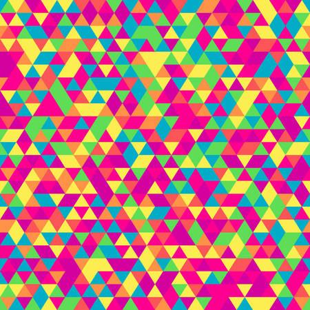 Naadloos patroon van driehoeken. Isometrische geometrische textuur in veel tinten. Stock Illustratie