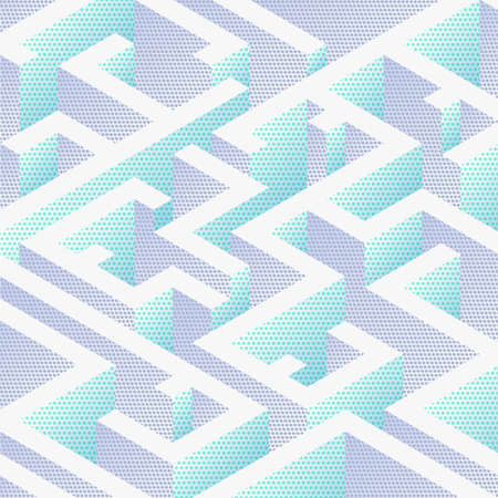 Abstract background in isometric style. A geometric maze. Illustration