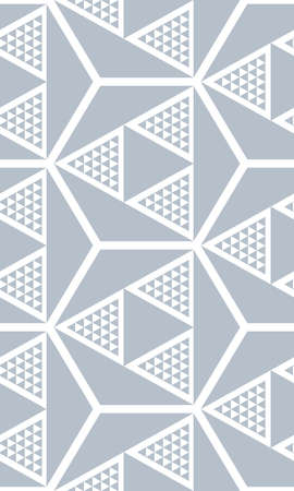 grid background: Seamless three-dimensional pattern of triangles. Geometric texture. Illustration