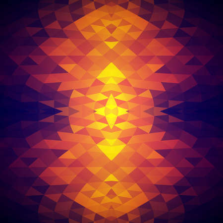 Bright abstract background with crystalline structure. Pattern of triangles. Color spots. Illustration