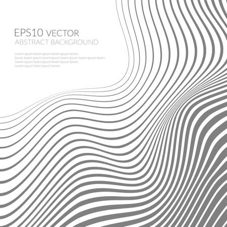 twist: Abstract background with curved lines and shapes. Distortion of space.