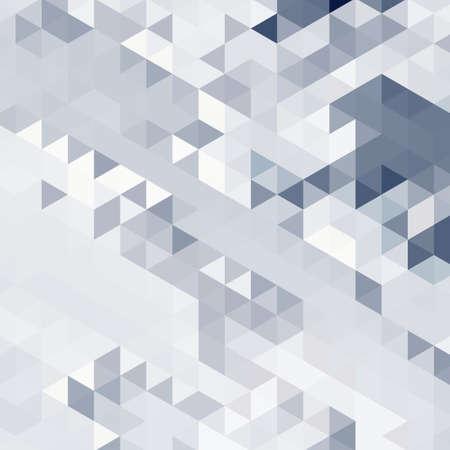 Abstracte achtergrond van vele driehoeken. Verplaatsing van geometrische vormen. Kleurovergangen. Stock Illustratie