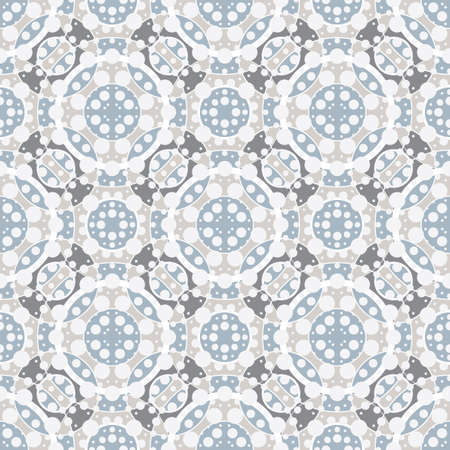 textile image: Seamless pattern with lots of dots and circles. Multi-layered image. Illustration