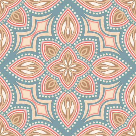 red carpet background: Seamless pattern of elements in Oriental style. Floral motifs. Illustration