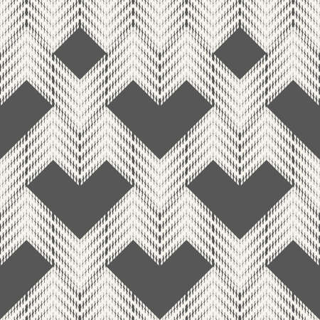 Abstract seamless pattern of dashes and zigzags. Halftones from the geometric elements.