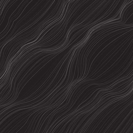 Abstract monochrome with lots of twisted lines. Illustration