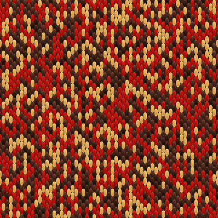 Abstract seamless pattern of the elements mosaic. The texture of the fabric. Seams and stitches on the material.
