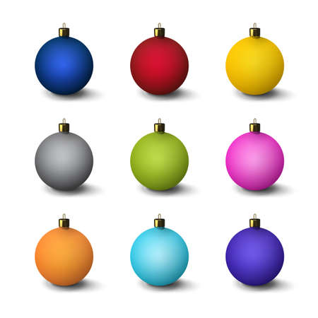 A set of Christmas decorations. Christmas balls. Stock Photo