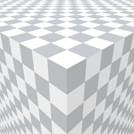 Abstract with three-dimensional cube. Illustration