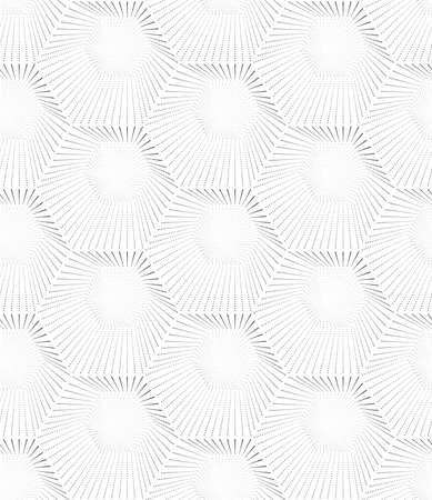 Abstract seamless pattern of hexagons. Monochrome image. Ilustração