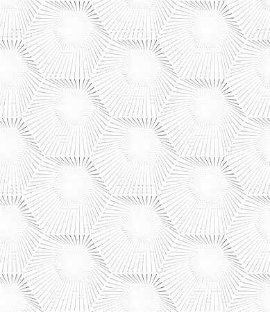 Abstract seamless pattern of hexagons. Monochrome image. Vettoriali