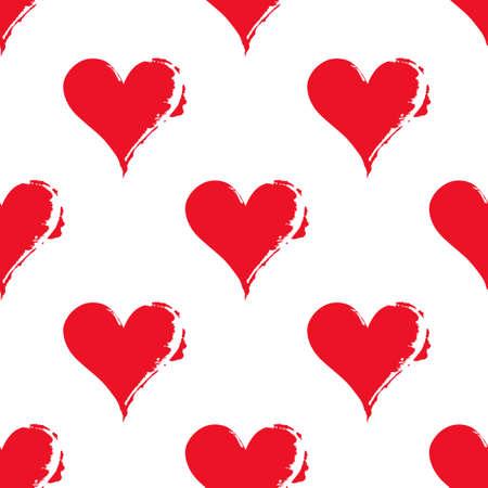 Pattern of hearts. Çizim
