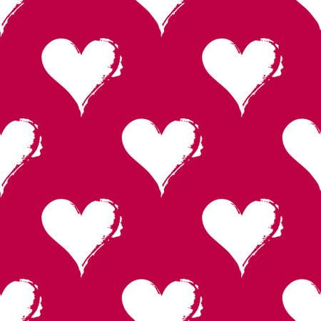 Pattern of hearts. Illustration