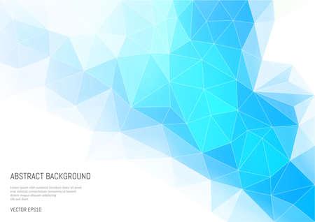 Abstrait dans le style polygonal. La convexité et les faces d'une forme à trois dimensions. Nuances de bleu vives. Banque d'images - 92953806