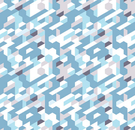 Abstract pattern of trapezoids and hexagons. The orderly movement of geometric forms. Illusztráció