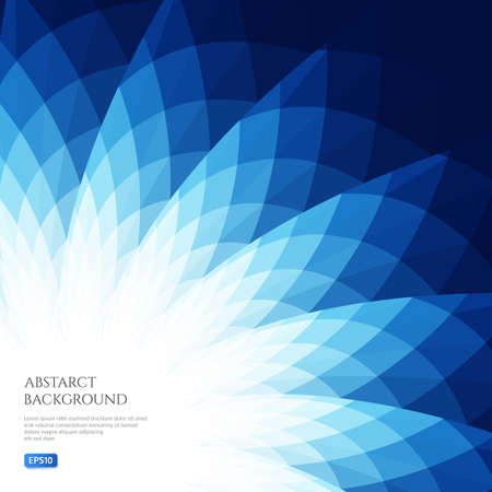 Abstract background with curved geometric shapes. Bright shades of blue.