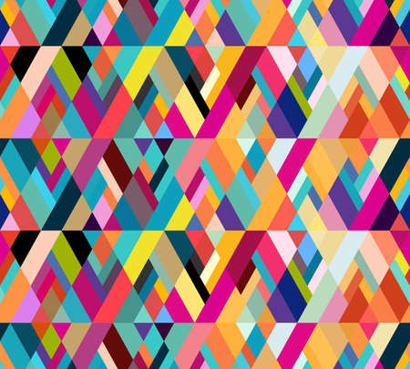 Abstract seamless pattern of geometric shapes. Diagonal movement. Vectores