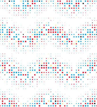 Abstract seamless pattern of geometric semitones.