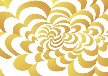 Abstract background of curved geometric shapes. The illusion of a three-dimensional image.