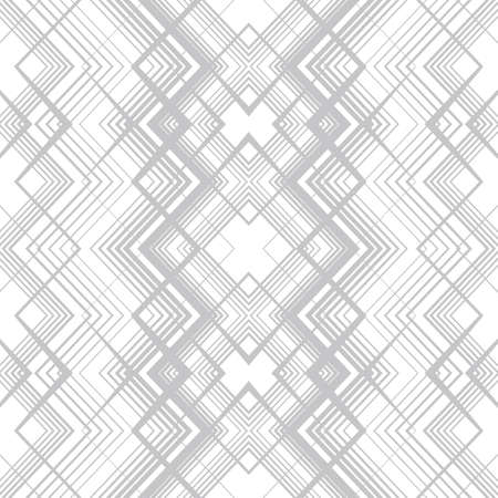 Abstract seamless pattern of lines and angles. Monochrome image.