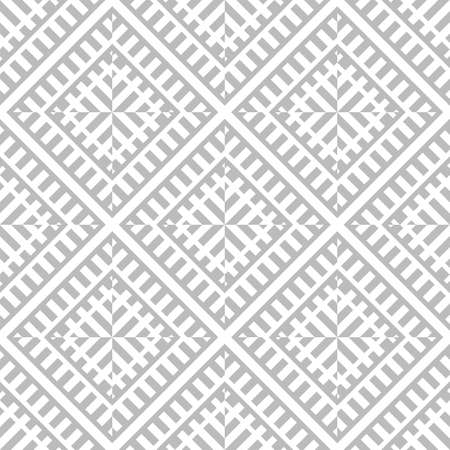 Abstract seamless pattern of geometric shapes. An optical illusion of movement. Ilustrace