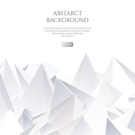 Abstract background with large shapes. The texture of the triangles.