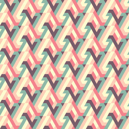 Abstract seamless pattern of geometric shapes.