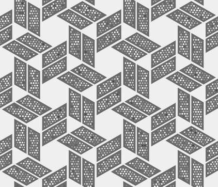 Resumen de patrones sin fisuras de formas geométricas. Una ilusión óptica de movimiento.