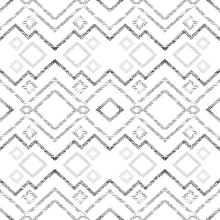 Abstract seamless pattern of zigzags and lines.