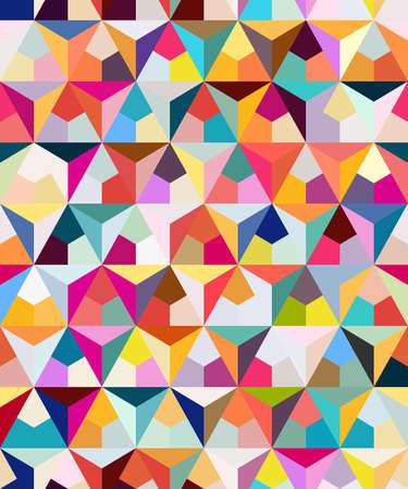 Abstract seamless geometric pattern. Figures with many angles. Directional movement.